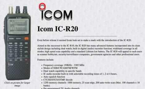 DXZone Icom IC-R20