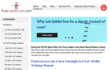 True Ladder Line and Wire Antennas