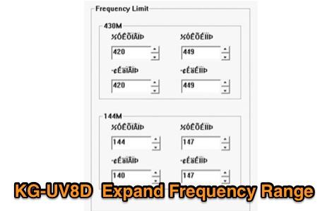 KG-UV8D Freq Limit