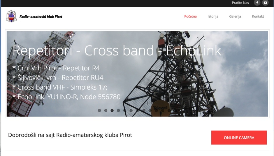 YU1INO | Radio-amaterski klub Pirot
