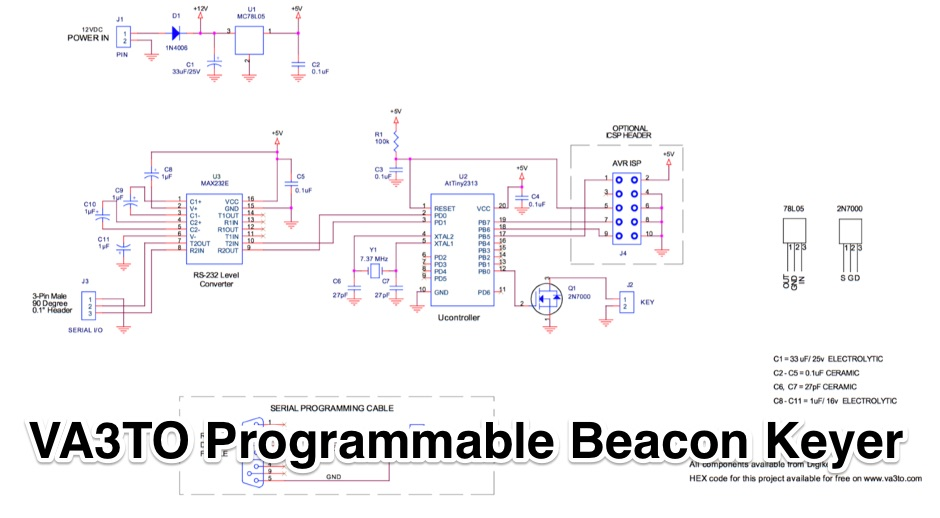 VA3TO Programmable Beacon Keyer