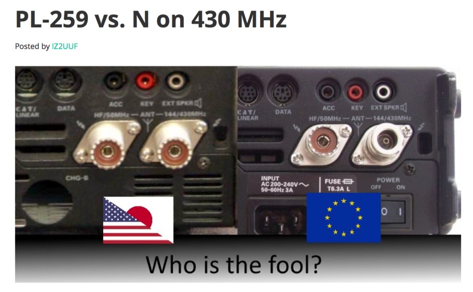 PL-259 vs Type N Connector on 430 MHz