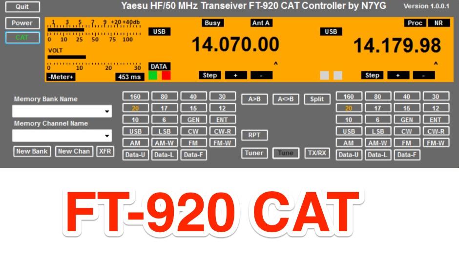 FT-920 CAT Controller Software