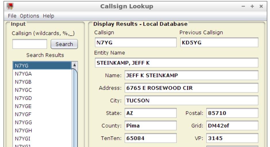 FCC Call Lookup