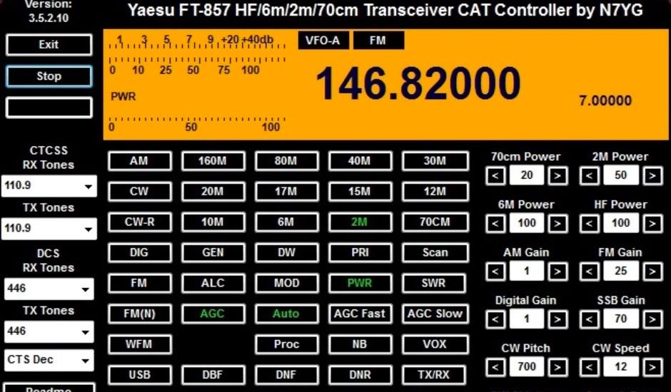 Yaesu FT-857 CAT Controller