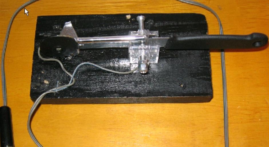 DXZone Homemade CW speed  key
