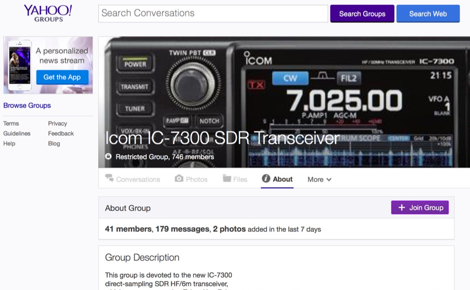 IC-7300 Yahoo Group