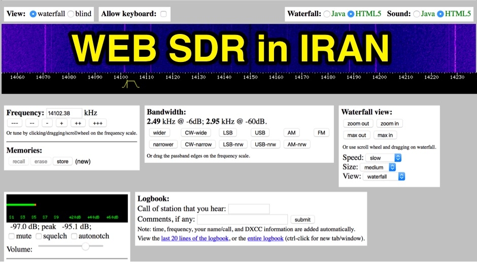 WebSDR from IRAN - EP2C
