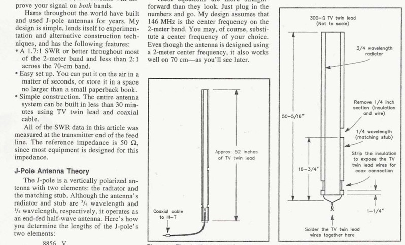 An Easy Dual Band VHF UHF Antenna