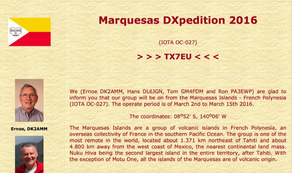 DXZone TX7EU Marquesas
