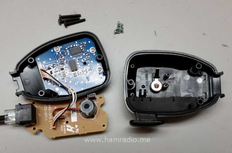Noisy Kenwood TM-D710A Microphone