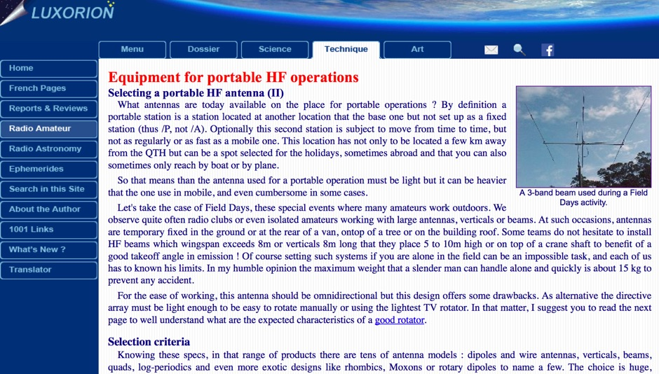 DXZone Equipment for portable HF operations
