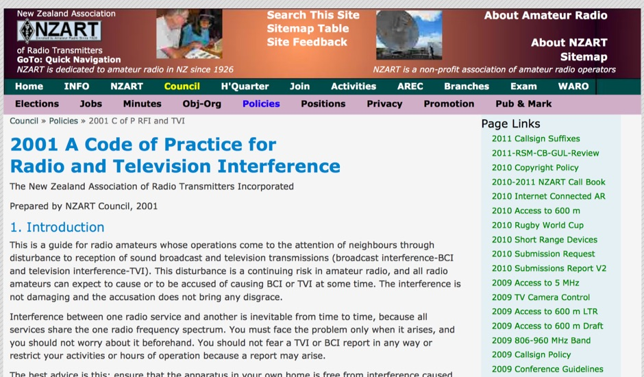DXZone A Code of Practice for Radio and Television Interference