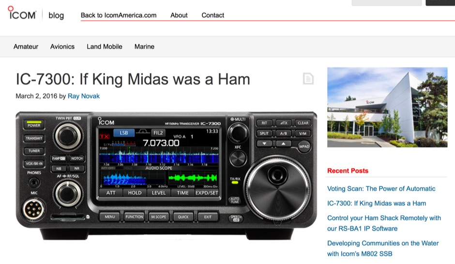 IC-7300: If King Midas was a Ham