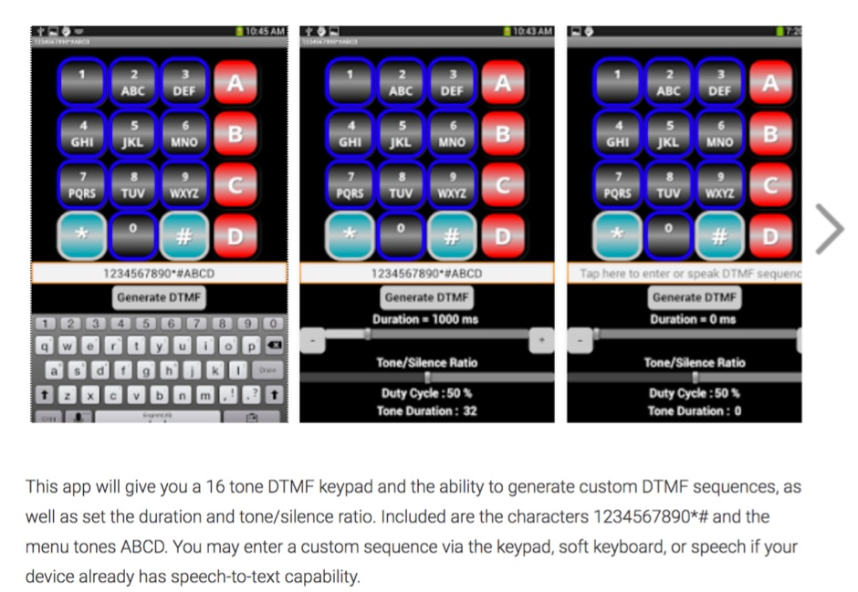 16 DTMF Tone Generator Keypad App - Resource Detail - The