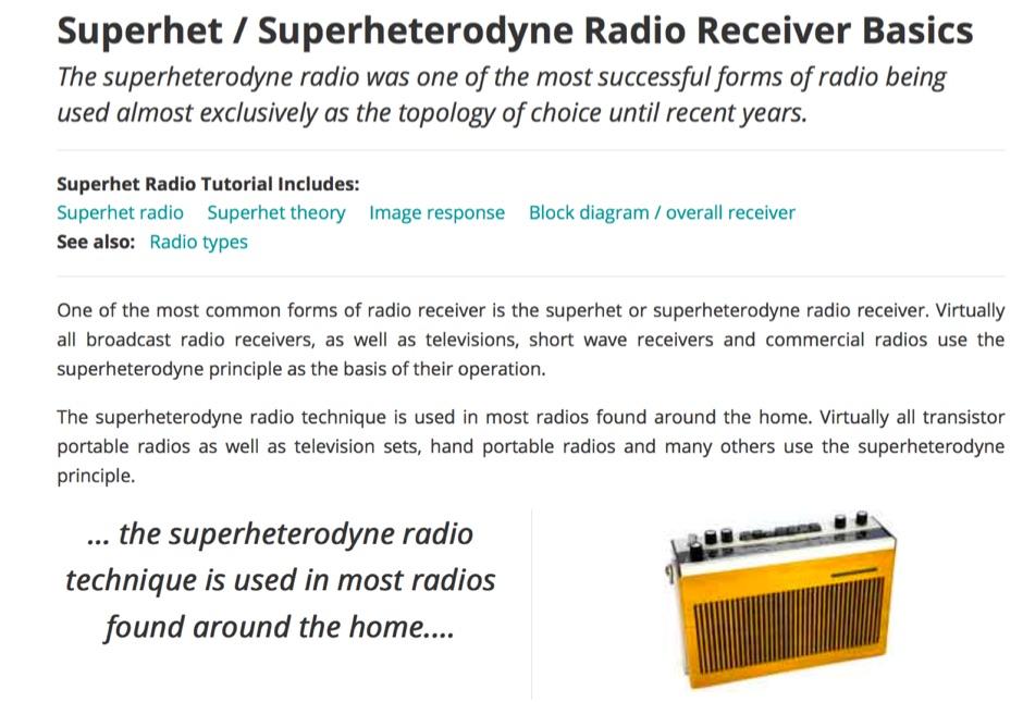 DXZone Superheterodyne Radio Receiver