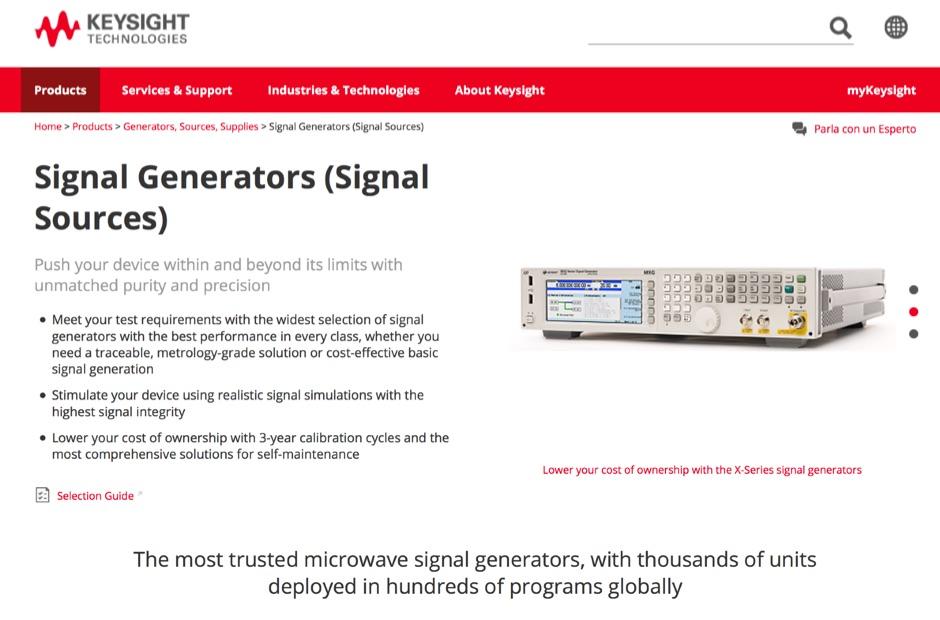 DXZone Keysight (Agilent) Signal Generator