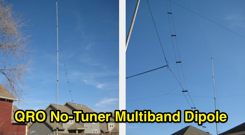 QRO No-Tuner Multiband Dipole