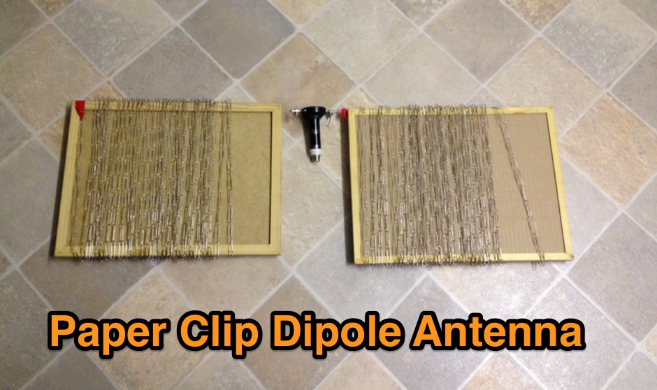 DXZone Paper Clip Dipole Antenna
