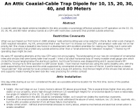 Coaxial-Cable Trap Dipole