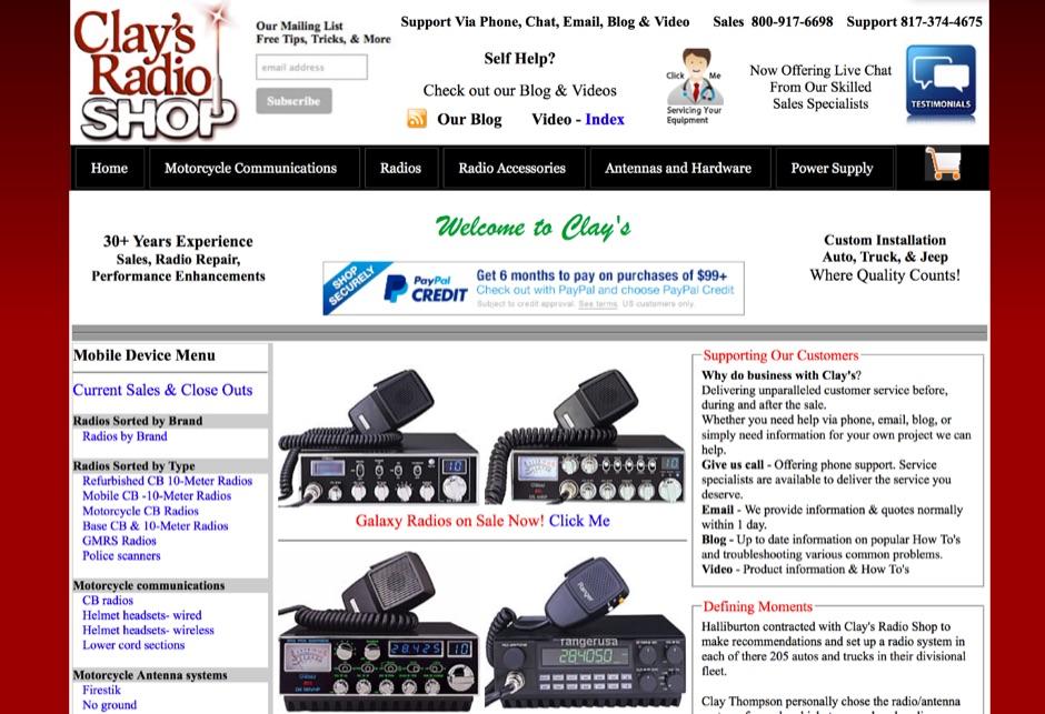 DXZone Clays Radio Shop Home Page