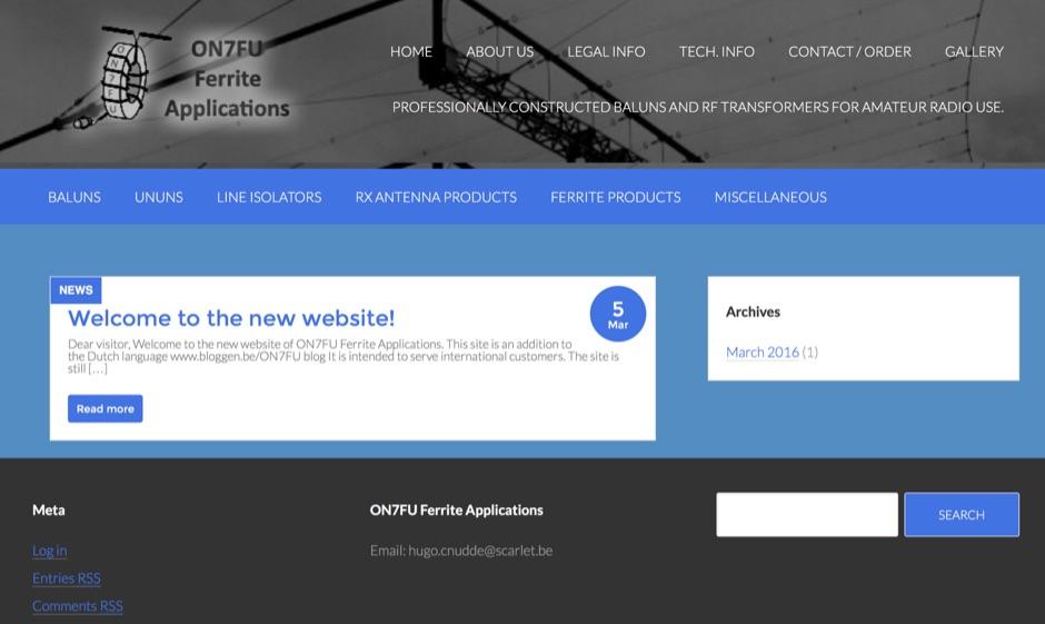 ON7FU Ferrite Applications