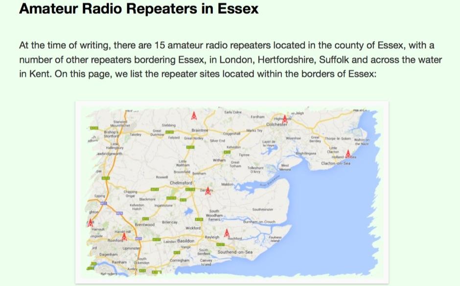 DXZone Essex Repeaters