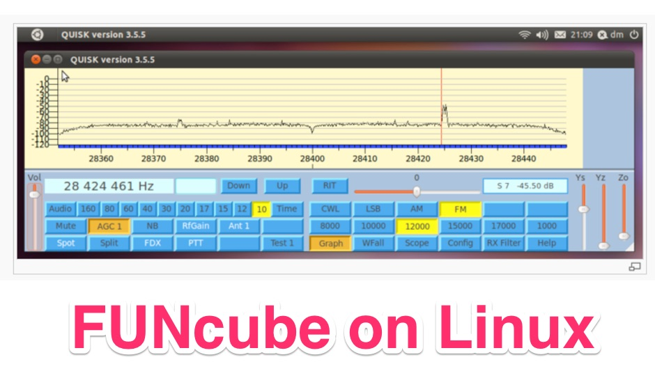 Getting a FUNcube Dongle running on Linux