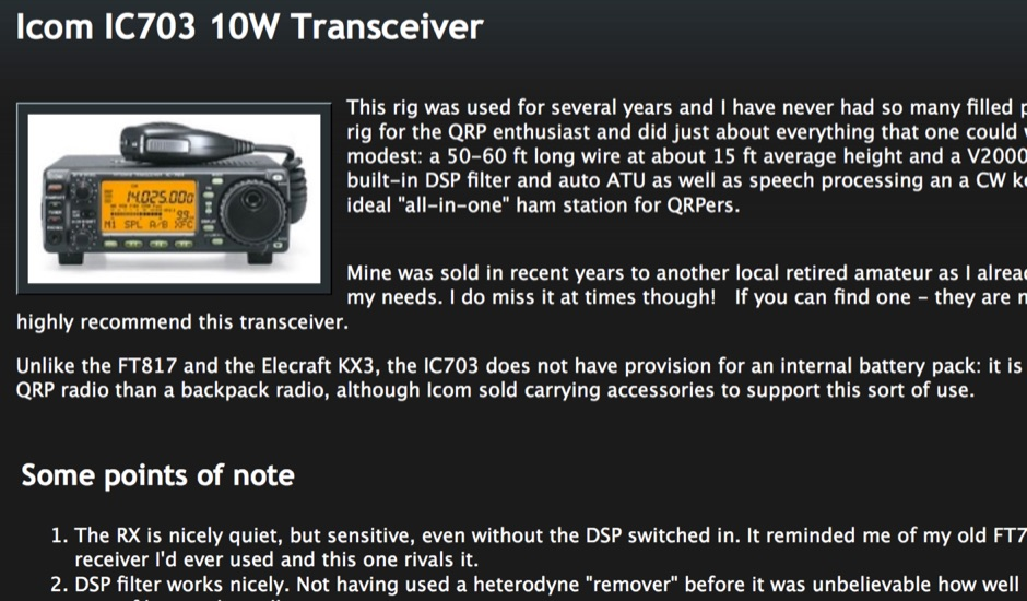 Icom IC703 10W Transceiver
