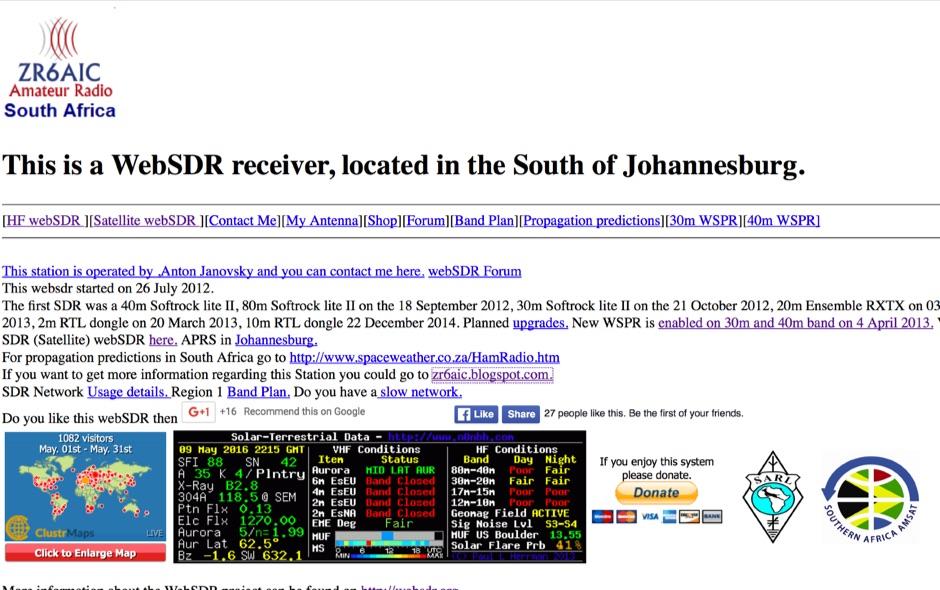 WebSDR in Johannesburg