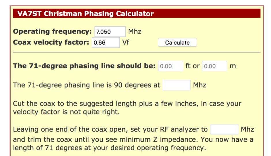 Christman Phasing Calculator