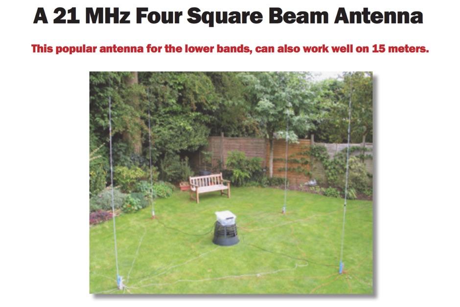 DXZone 15m Four Square antenna