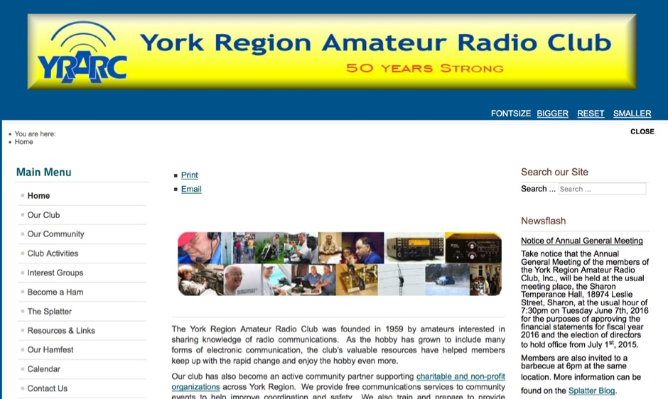 York Region Amateur Radio