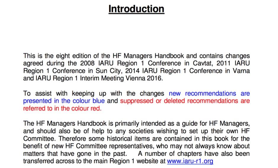 IARU R1 HF Managers Handbook