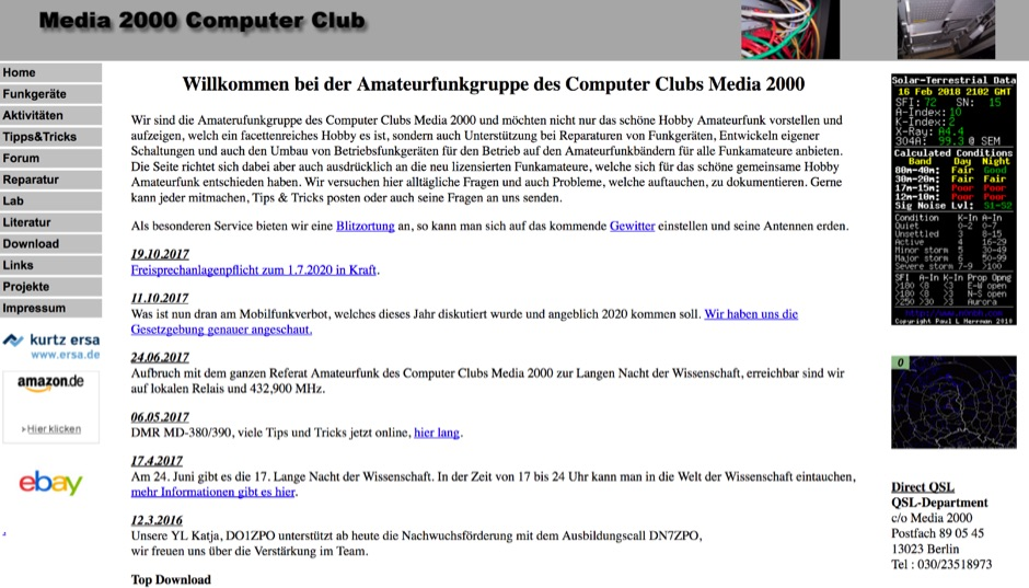Amateurfunkgruppe des Computer Clubs Media 2000