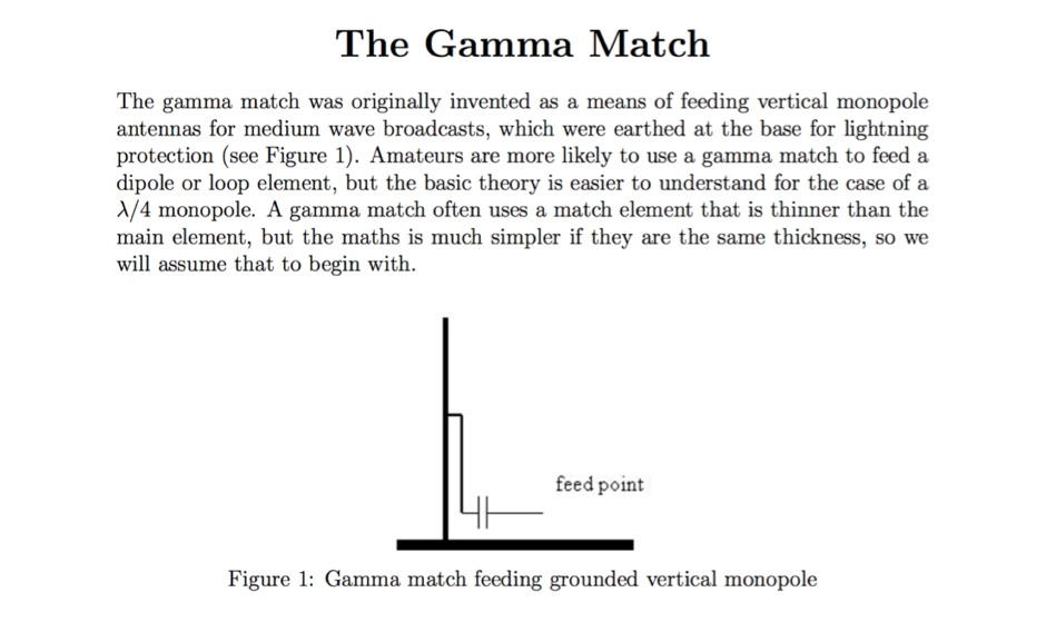 The Gamma Match
