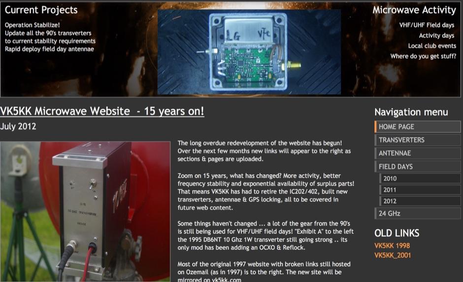 VK5KK Microwave website 144 - 24048 MHz