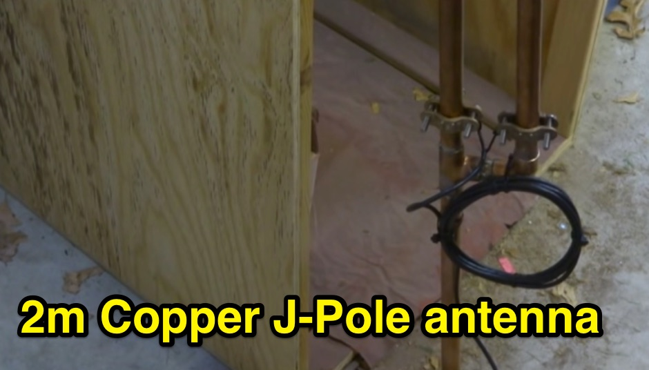2m Copper J Pole antenna Video