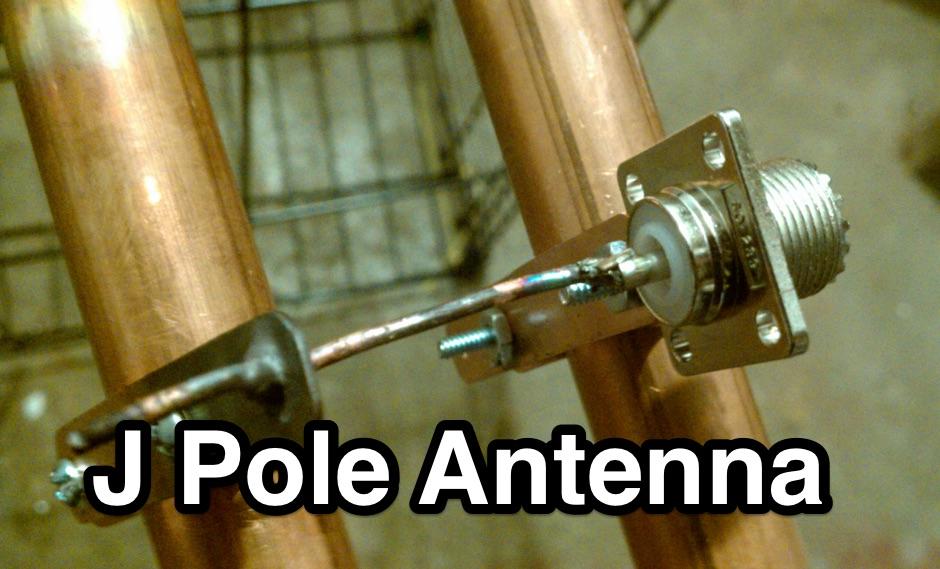 DXZone The Copper J pole Antenna