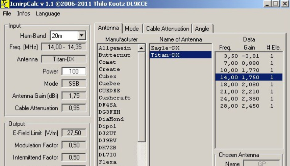 DXZone Calculate safety distance from your antenna