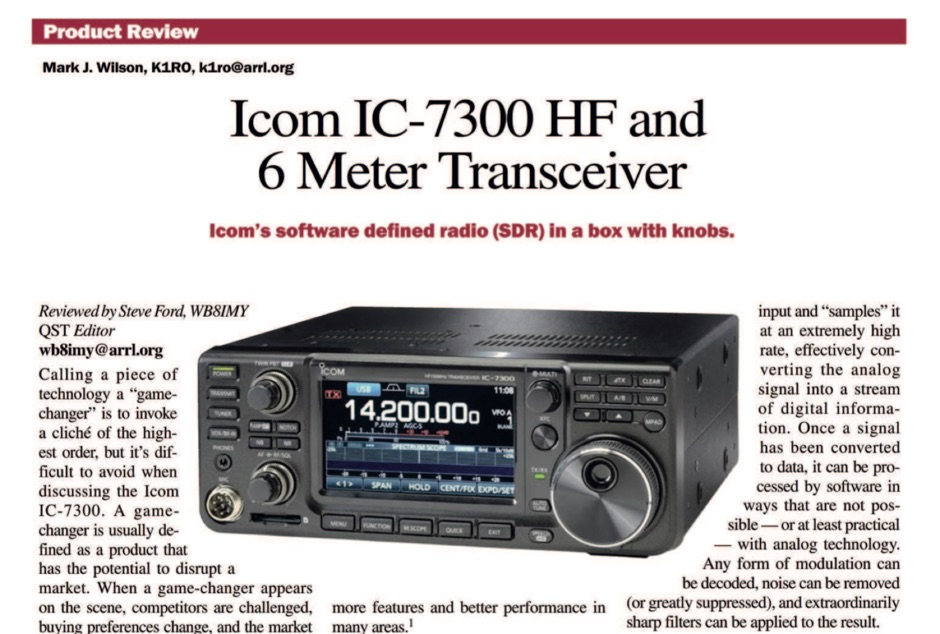 ICOM IC-7300 QST Review