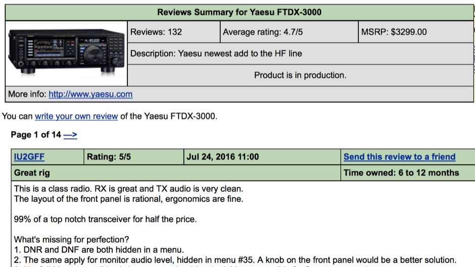 FTDX-3000 Review