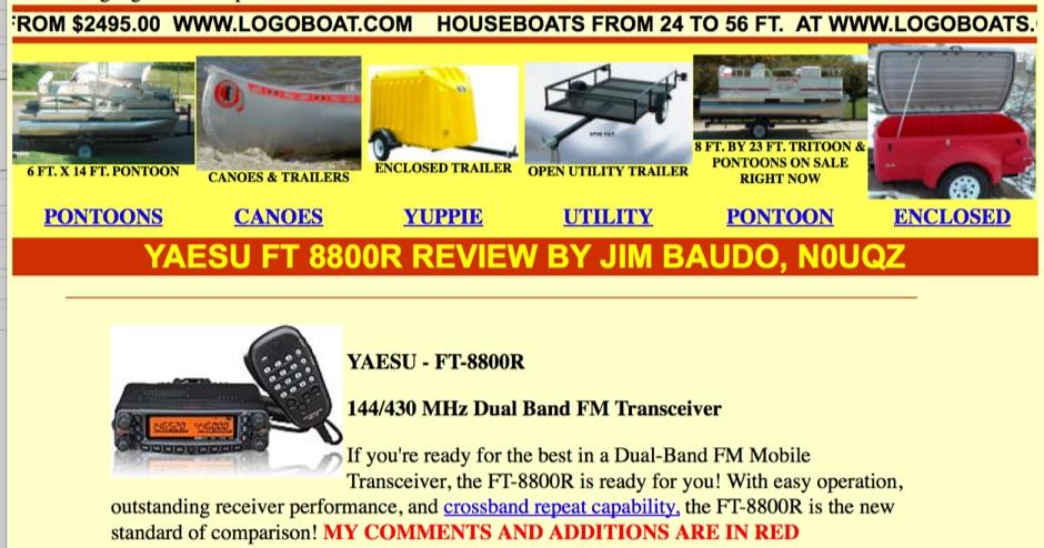 DXZone Yaesu - FT-8800R Review