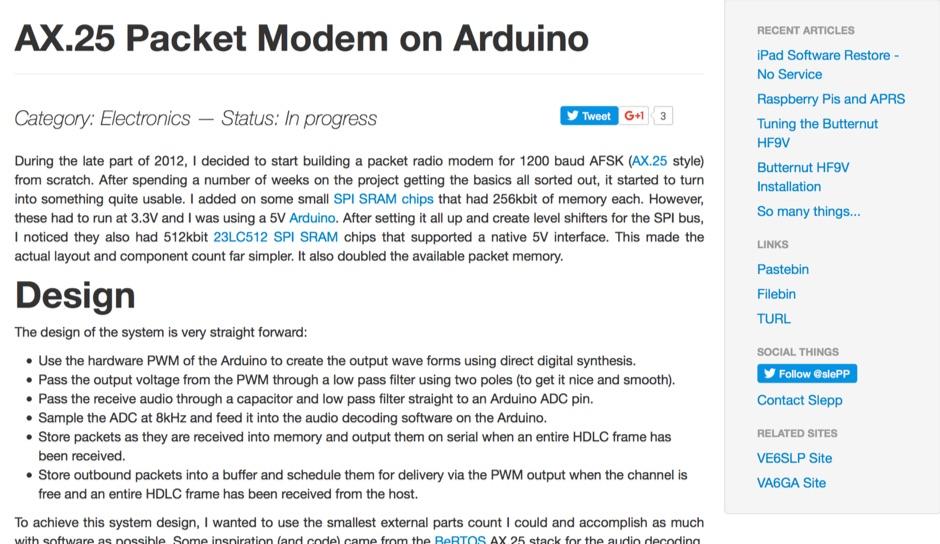 DXZone AX.25 on Arduino