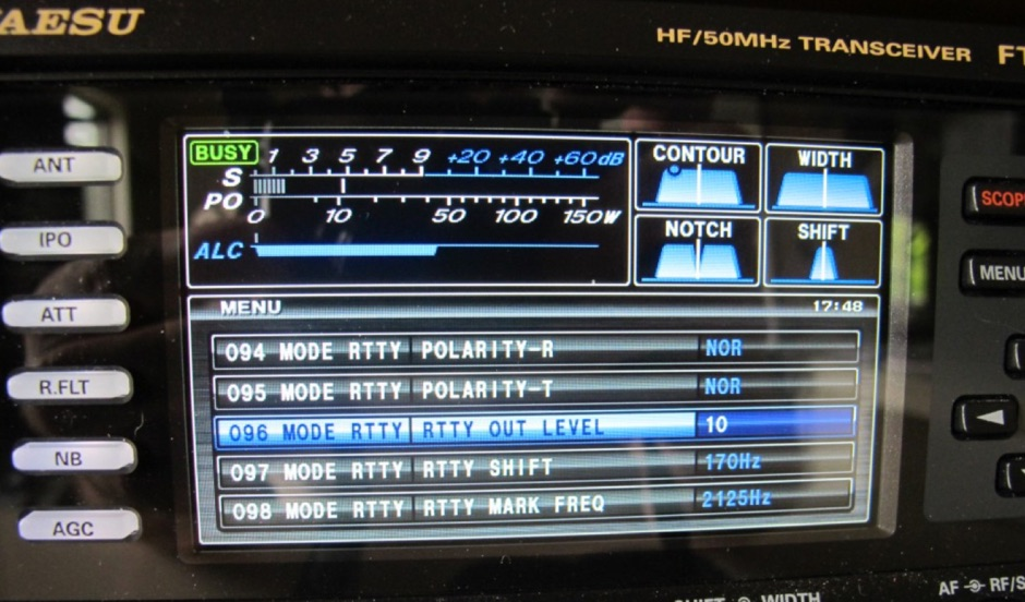 Yaesu FTdx3000 DM780 RTTY Setup