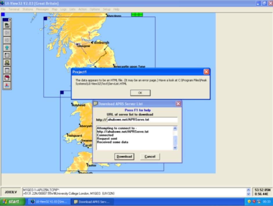 UI-View APRS-IS Settings