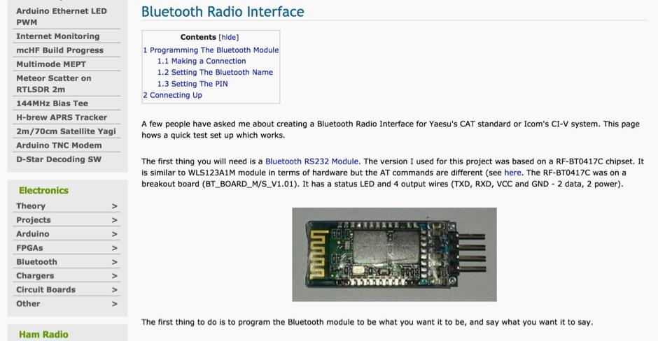 DXZone Bluetooth Radio Interface
