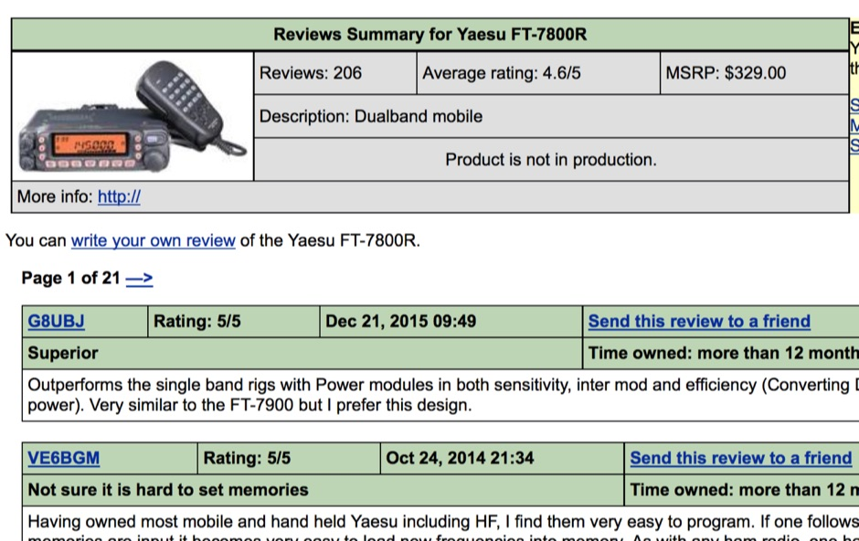 FT-7800R Review