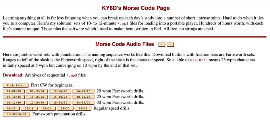 Morse Code Audio Files