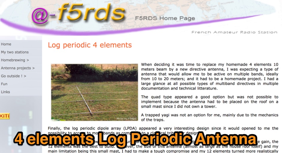 Log periodic 4 elements